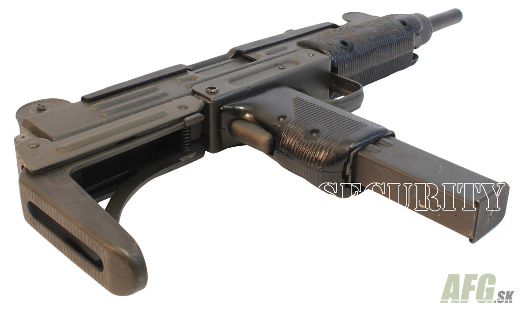 Deactivated submachine gun UZI with folding stock cal  9 mm - AFG