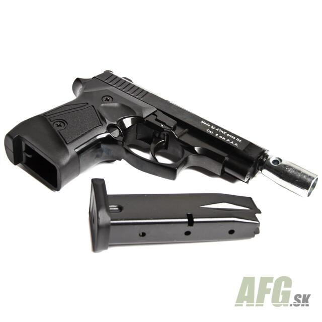 Gas pistol Atak Zoraki 914 Auto black, cal 9mm - AFG-defense