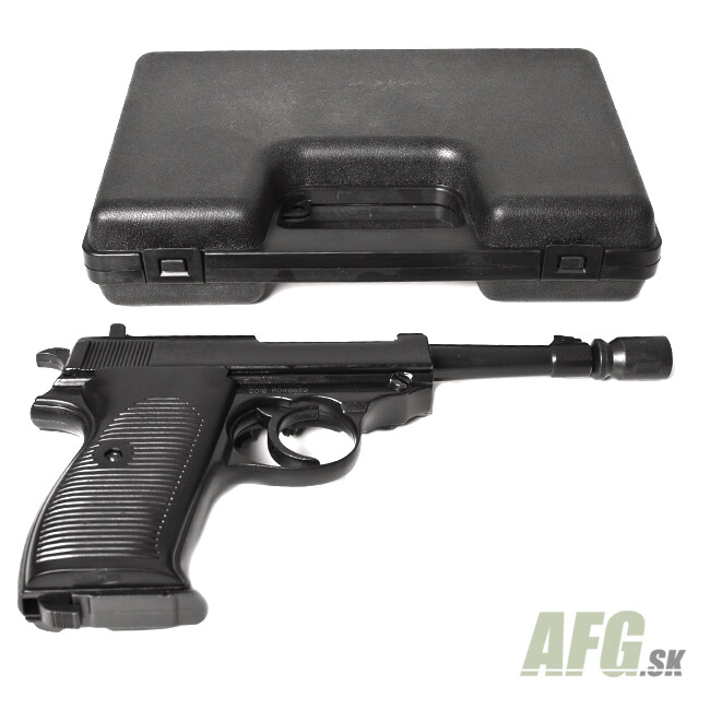 Gas pistol Bruni P38 black cal 8 mm - AFG-defense eu - army