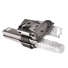 Plastic baton and flashlight holster, double, rotating BH-LH-05