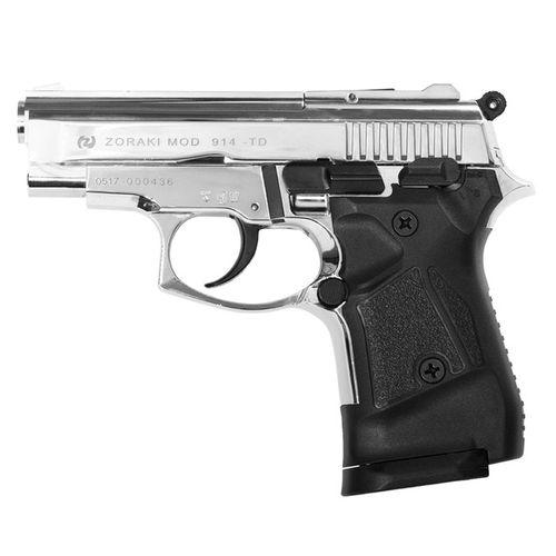 Gas pistol Atak Zoraki 914 shiny chrome, cal. 9mm Knall