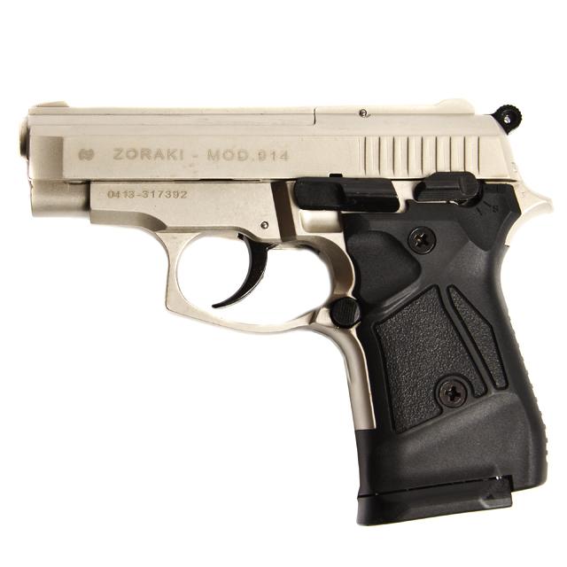 Gas pistol Atak Zoraki 914 auto nickel, cal 9mm Knall - AFG-defense