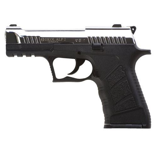 Gas pistol Ekol Alp 2 cal. 9 mm, glossy chrome