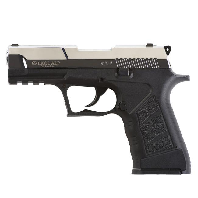 Gas pistol Ekol Alp cal  9 mm, glossy chrome - AFG-defense eu - army