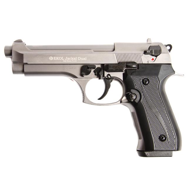 Gas pistol Ekol Jackal dual titanium, cal 9mm Knall Full