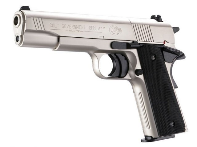 Gas Pistol Umarex Colt Government 1911 A1 Nickel Cal 9mm