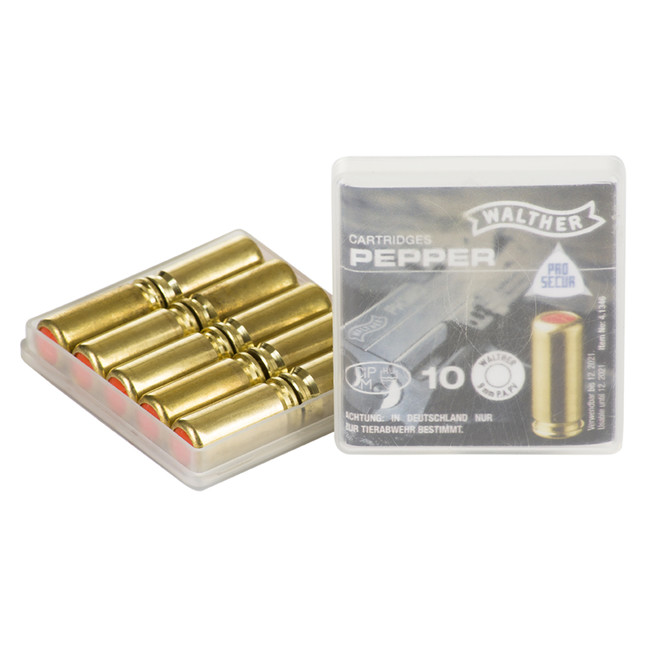 Gas cartridge PV-S 9 mm pistol, 10 pcs Supra Pepper Walther - AFG