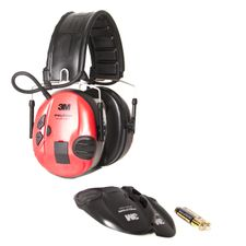 Eer protection Peltor SportTac Shooting red-black