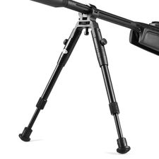 Bipod supporting telescopic on the barrel