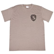 T-shirt, colour gray, black logo