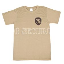 T-shirt, colour olive, black logo
