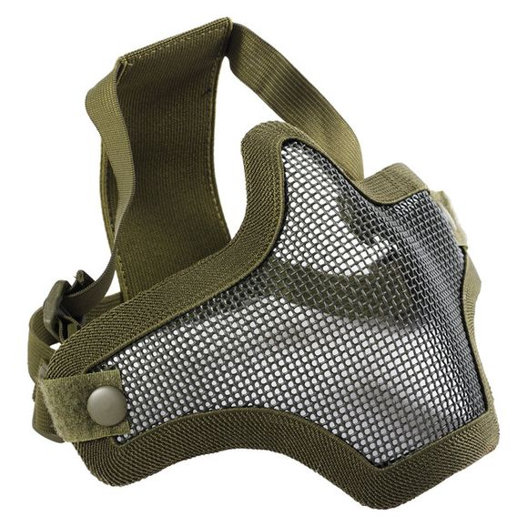 Airsoft mask Mesh metal green