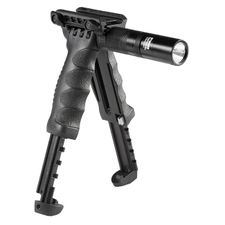 Bipod with built-in tactical light G2 black T-POD G2 SL
