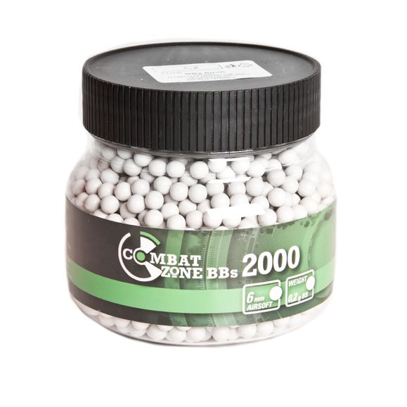 BB bullets 6mm Combat Zone 0.20 g 2000 pcs White