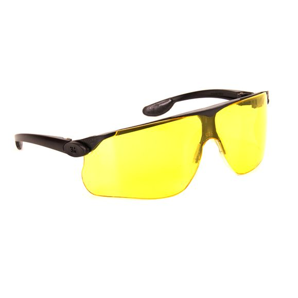 Safety goggles opened yellow