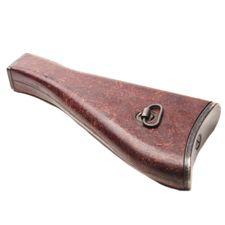 Stock for submachine gun SA 58 used, wood splinter