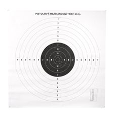 Pistol targets international 50/20