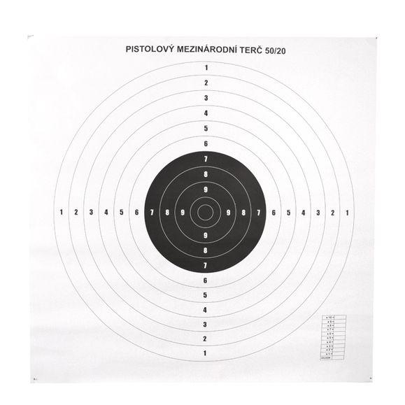 Pistol targets international 50/20