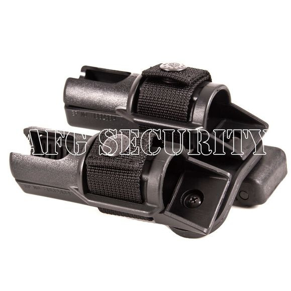 Plastic baton and flashlight holster, double, rotating BH-LH-14