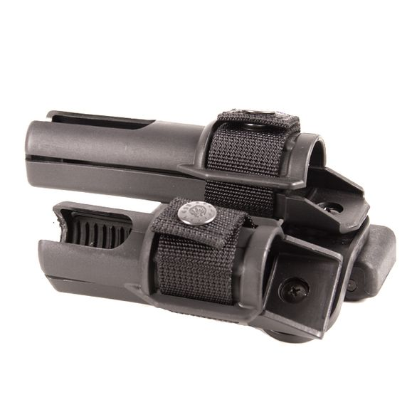 Plastic baton and flashlight holster, double, rotating BH-LH-15