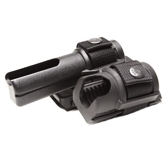 Plastic baton and spray holster, double, rotating BH-SH-15