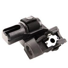 Plastic baton and flashlight holster, double, rotating BH-LHU-04