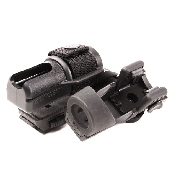 Plastic baton and flashlight holster, double, rotating BH-LHU-14