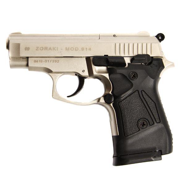Gas pistol Atak Zoraki 914 auto nickel, cal.9mm Knall