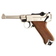 Gas pistol Cuno Melcher P08 satin, cal.9mm