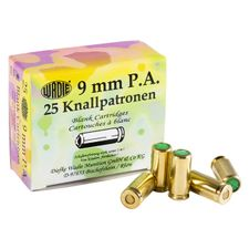 Blank cartridge pistol Wadie 9 mm P.A.K., 25 pcs