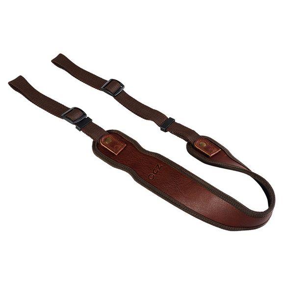 Gun strap, light, leather - rubber