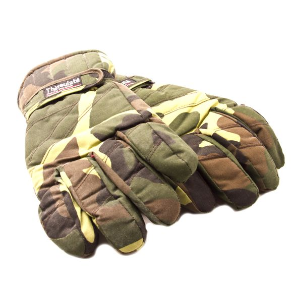 Gloves hunting, camouflage