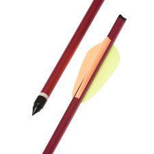 "Arrow dural 20"" red HalfMoon Ek Archery 1 pc"