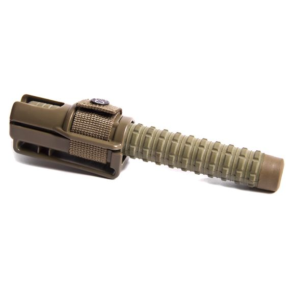 "Expandable baton 21"" H hardened chrome/khaki hand grip"