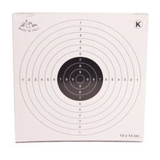 Air gun targets 14x14 cm, package 50 pcs