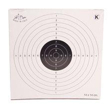 Air gun targets 14x14 cm, package 50 pcs