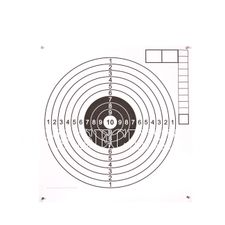 Air rifle targets 160P, white middle
