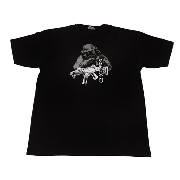 Shirt CZ Scorpion, color black XL