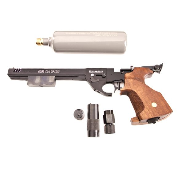 Air pistol Alfa Sport CO2 with compensator cal. 4,5 mm, black
